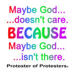 Maybe God doesn't care