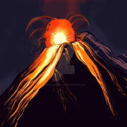 Volcano Splash art