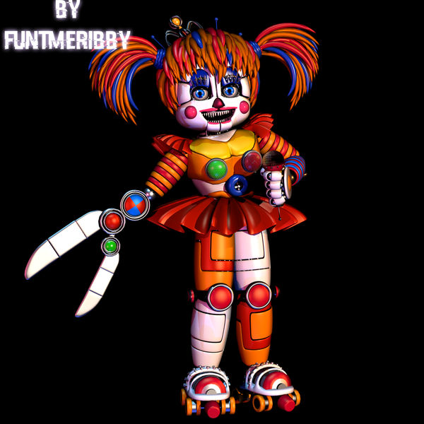 [C4D FNAF] Showtime Baby Model Test By FuntimeRibby On
