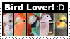 Bird Lover Stamp by Godbird