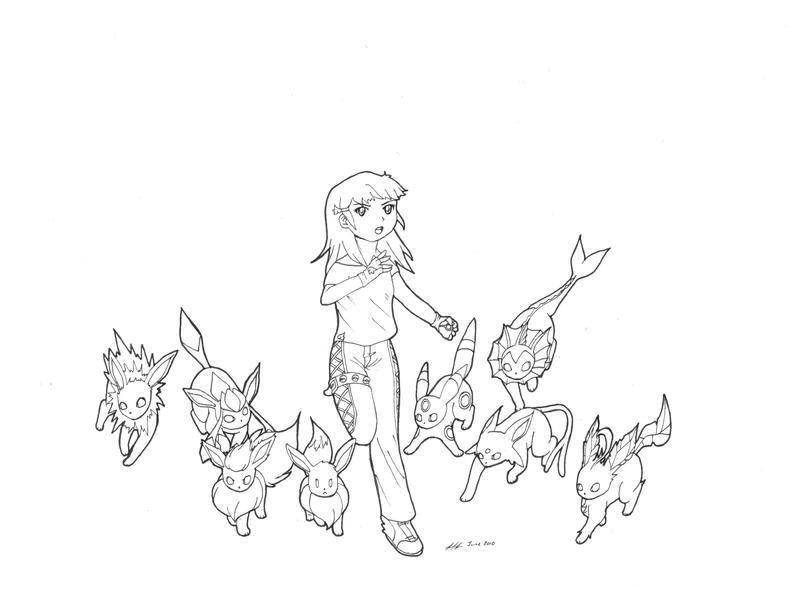 Eeveelutions Coloring Coloring Pages