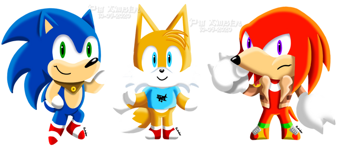 Sonic Crossing - Sonic, Tails, Knuckles