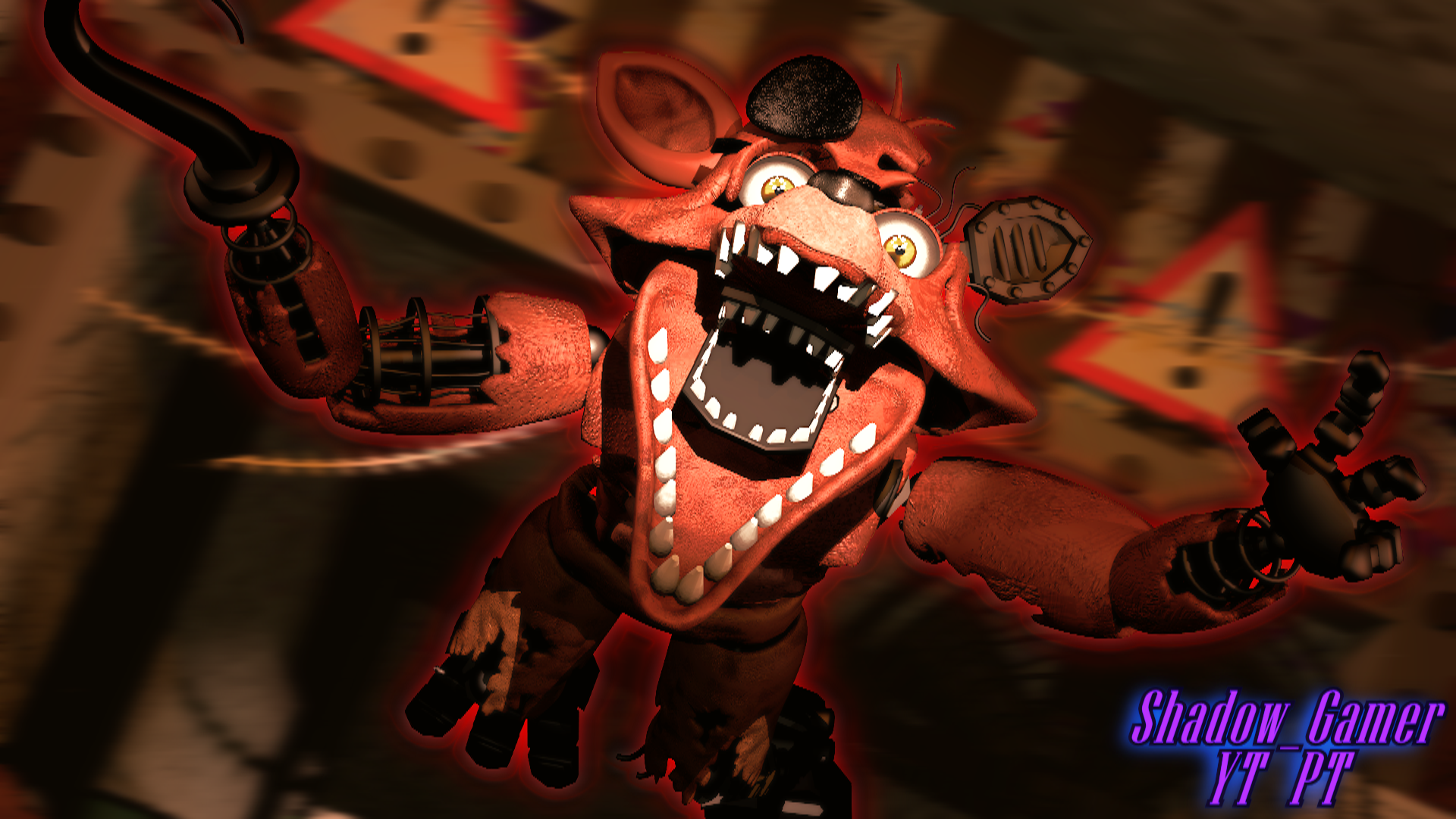 C4d Fnaf2 Withered Foxy Jumpscare By Shadowgamerytpt On Deviantart