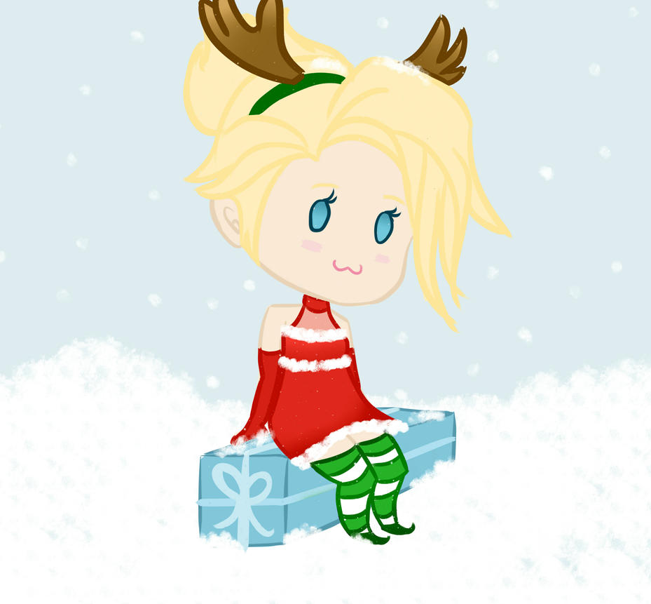 Christmas Mercy (Overwatch) COMMISSION by Cannibelle-Art on DeviantArt