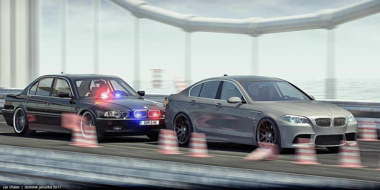 Bmw car chase by domino3d on deviantart for Chaise auto