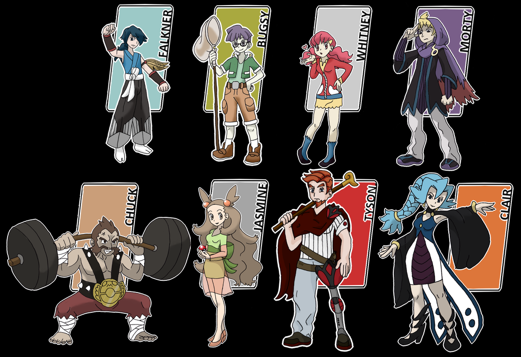 neo johto gym leaders by xxnightwindxx on deviantart