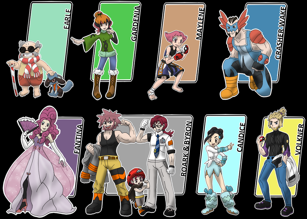 neo sinnoh gym leaders by xxnightwindxx on deviantart