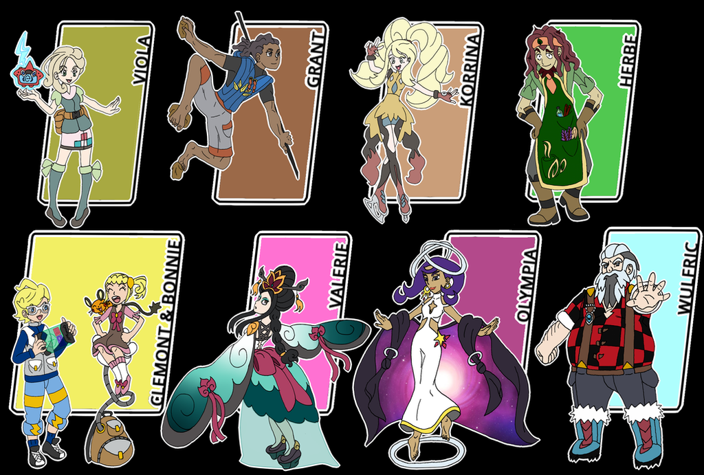 pokemon kalos gym leaders wwwpixsharkcom images