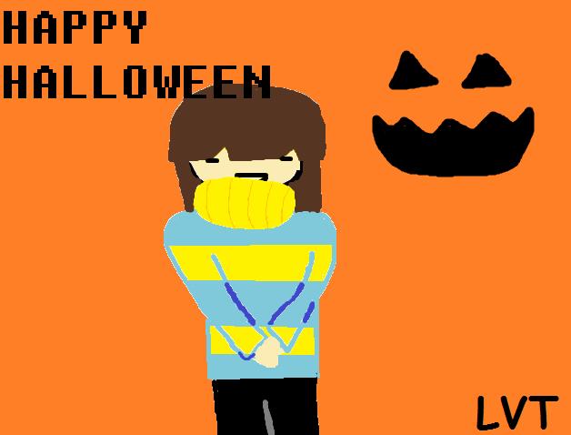 HOI IM FRISK-UnderTale Halloween by lovetrouble123