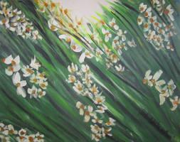 Windblown Flowers by juliarita
