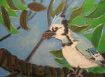 Blue Jay with Acorn