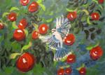 Blue Jay In The Apple Tree by juliarita