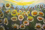 Dusty Sunflowers by juliarita