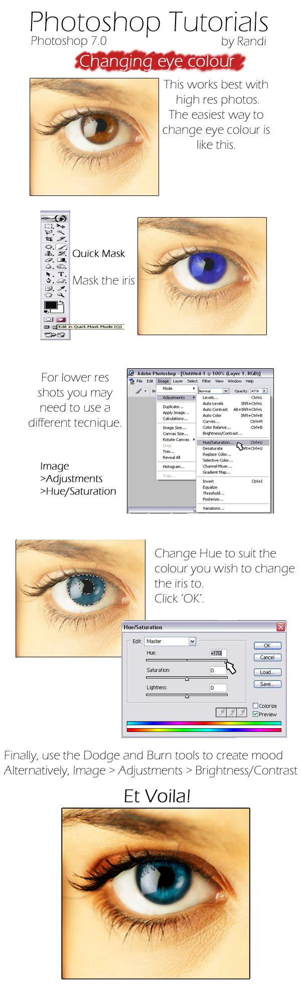 RT - Changing Eye Colour by Randi-Tutorials