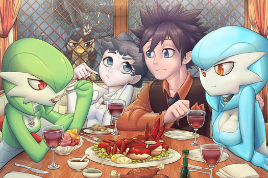 Dining with Gardevoirs