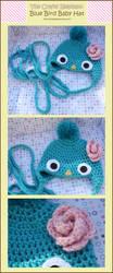 Blue Bird Baby Hat by moofestgirl