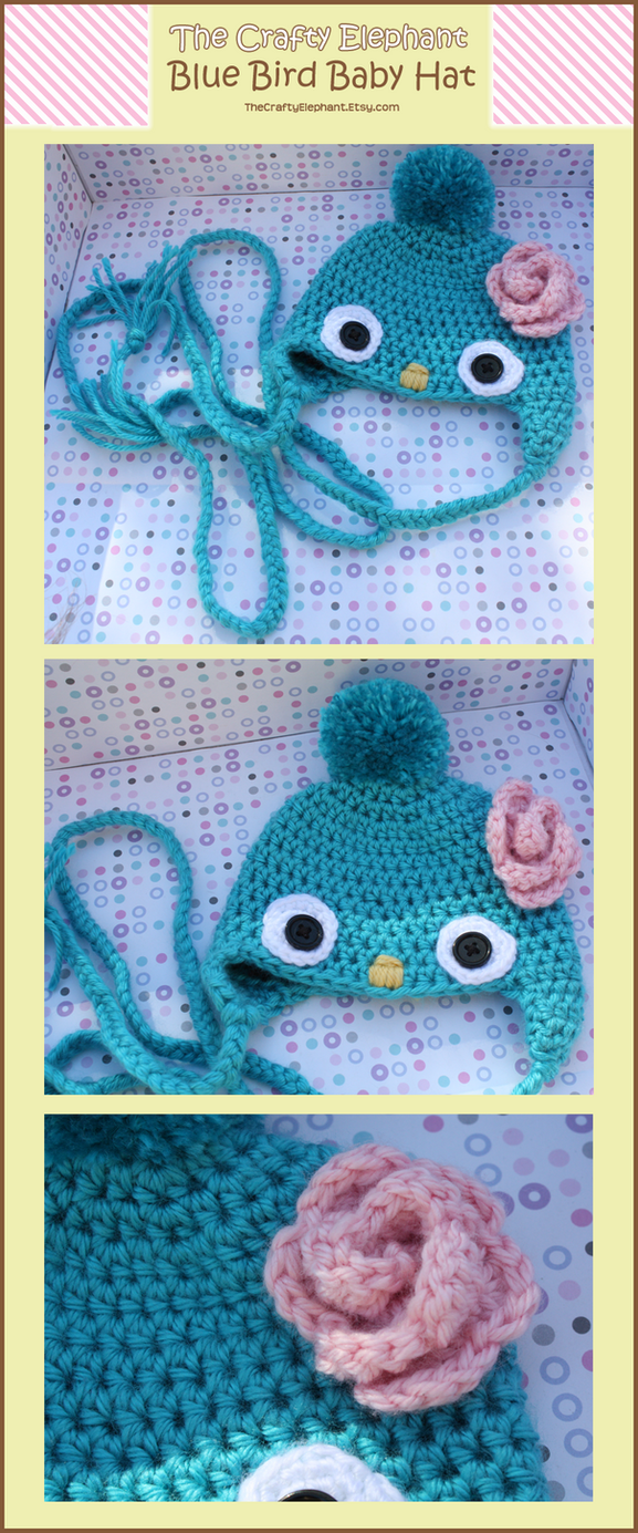 Blue Bird Baby Hat by moofestgirl