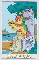 Fluttershy: Queen of Cups by Iguanodragon