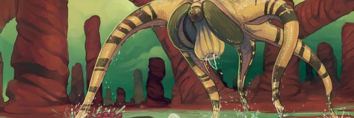 Artstation Header (Daily Drawing 'redraw') by Iguanodragon