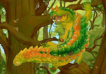 Drago Jewel Caterpillar by Iguanodragon