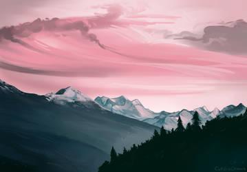 Landscape Study 2 by Iguanodragon