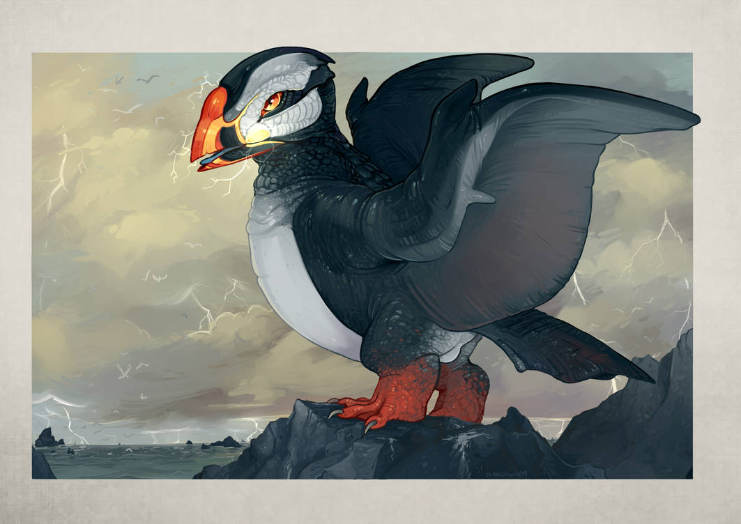 P: Drago Puffin by CuttleDreams : ImaginaryHybrids
