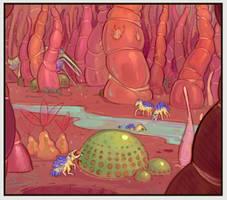 AL-194: Soft Forest (Brainstorm painting)