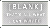 Writer's Block - Blank Stamp by Vandesti