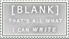 Writer's Block - Blank Stamp by Vandesti