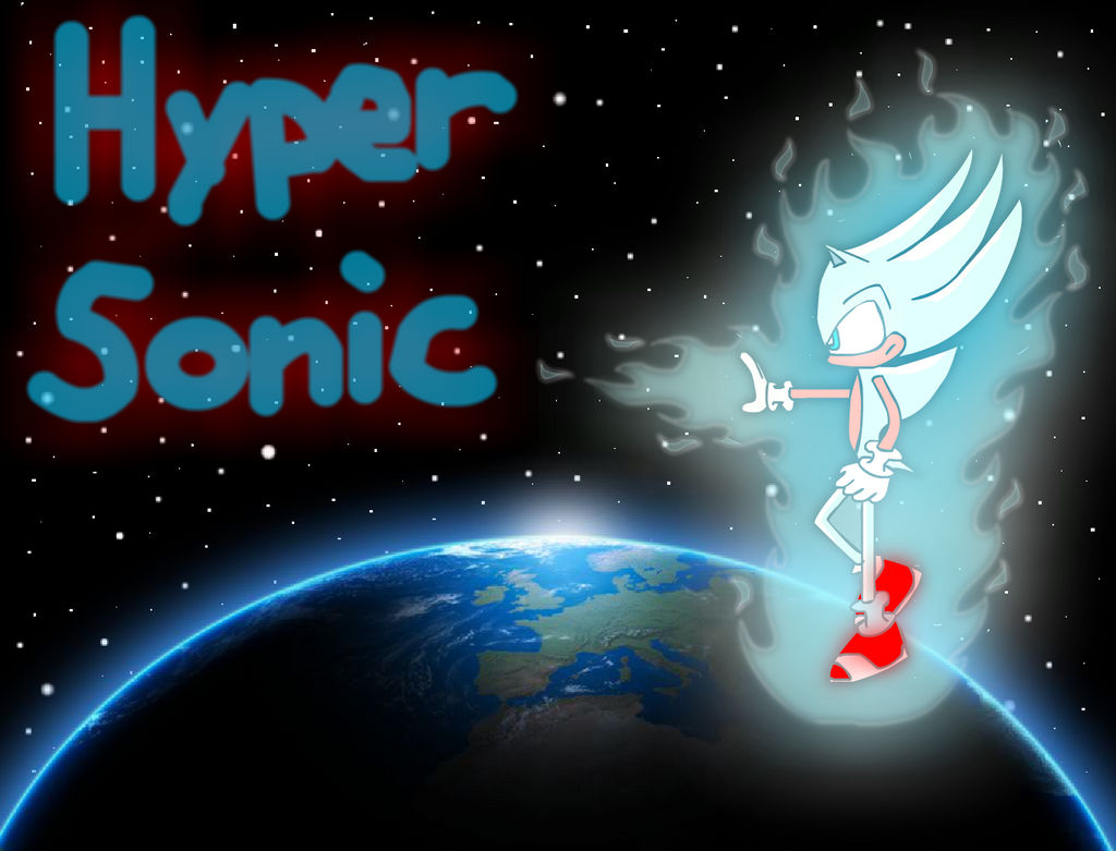 Hyper Sonic Wallpaper By Mahardikaadihertian On Deviantart