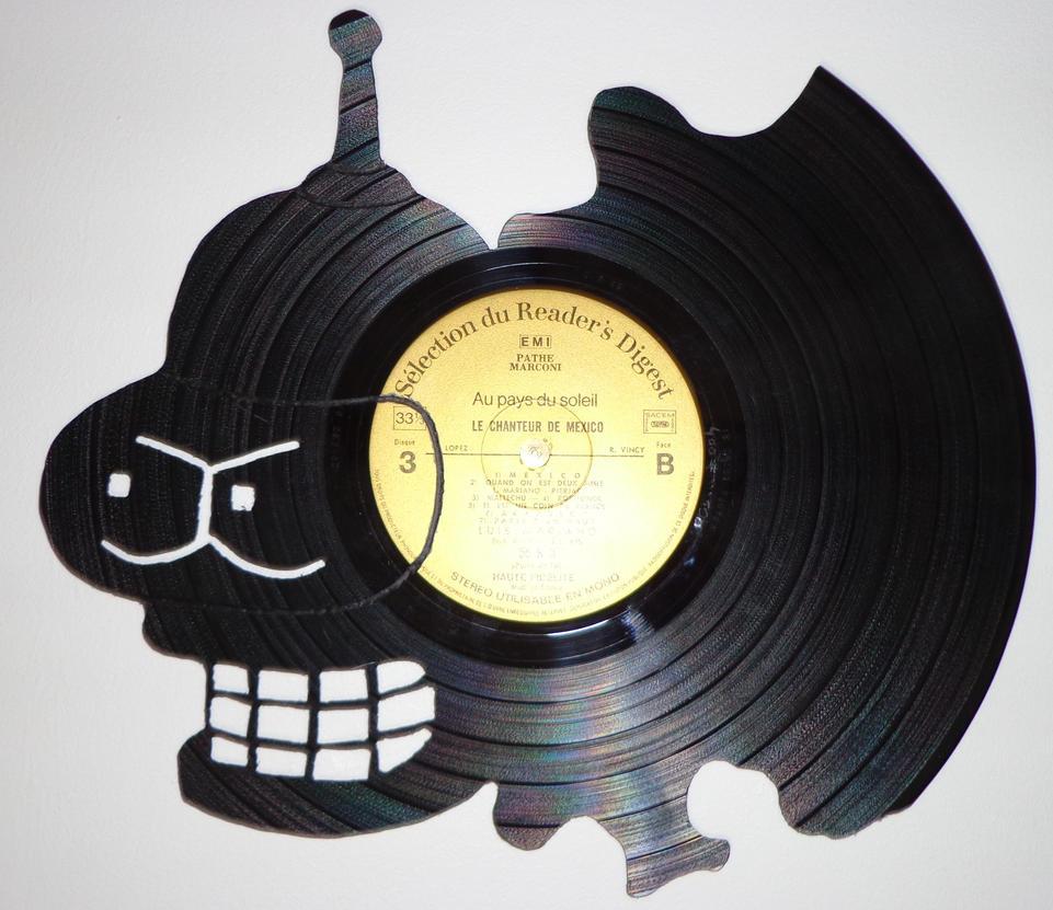 #004 - Bender Vinyl record art by Cb375 on DeviantArt