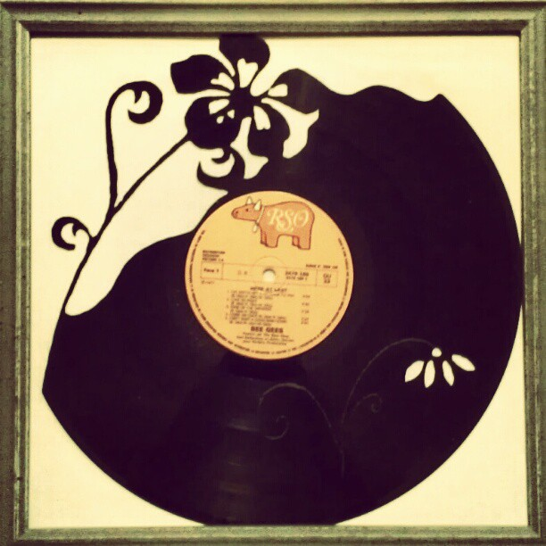 005 flower vinyl record art by cb375 on deviantart