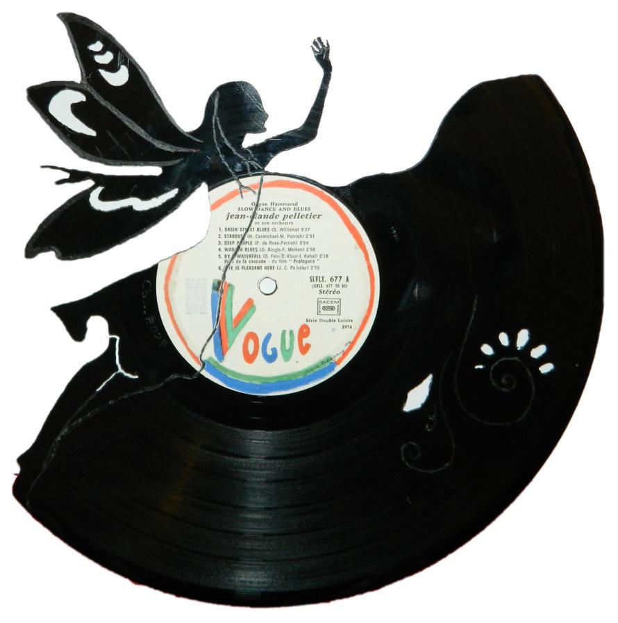 007 fairy vinyl record art by cb375 on deviantart - Collection disque vinyl ...