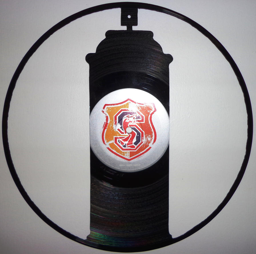 Bomb your mind vinyl record art by cb375 on deviantart for Vinyl records arts and crafts