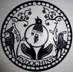 handmade Vinyl Record Art - Indochine