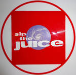 Handmade Vinyl Record Art - Sip The Juice