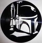 handmade Vinyl Record Art - Boba Fett