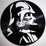 Handmade Vinyl Record Art Darth Vader