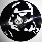 handmade Vinyl Record Art - Stormtrooper