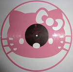 Handmade Vinyl Record Art - Kitty