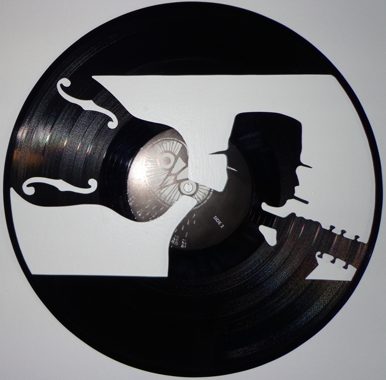 handmade vinyl record art blues man by cb375 on deviantart