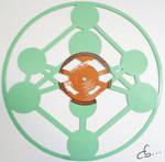 Handmade Vinyl Record Art -  Atomium, Brussels