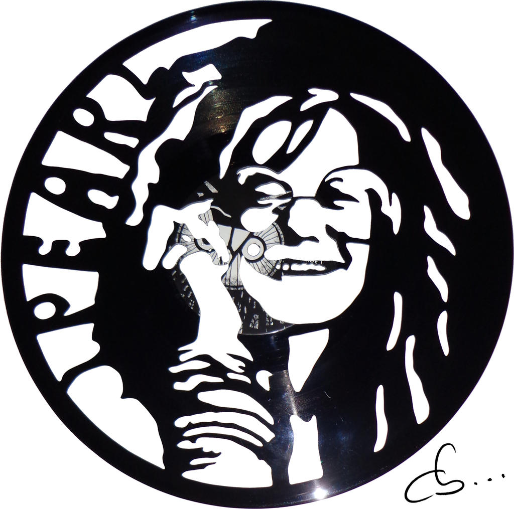 Handmade Vinyl Record Art Janis Joplin By Cb375 On