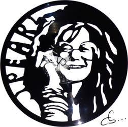 Handmade Vinyl Record Art - Janis Joplin by Cb375