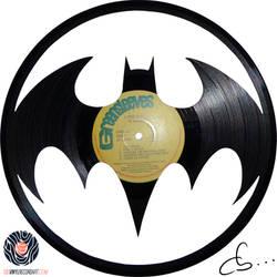 Handmade Vinyl Record Art - Batman Returns
