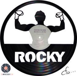 Handmade Vinyl Record Art - Rocky by Cb375