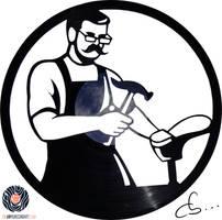 Handmade Vinyl Record Art - Alfred The Shoemaker