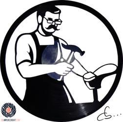 Handmade Vinyl Record Art - Alfred The Shoemaker by Cb375