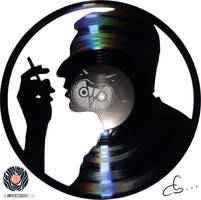 Handmade Vinyl Record Art - Serge Gainsbourg