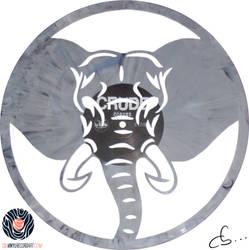 Handmade Vinyl Record Art - Elephant